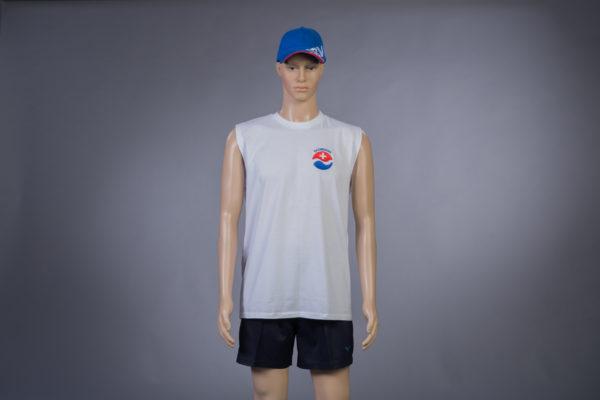 T-Shirt ärmellos für Badmeister Vorderseite