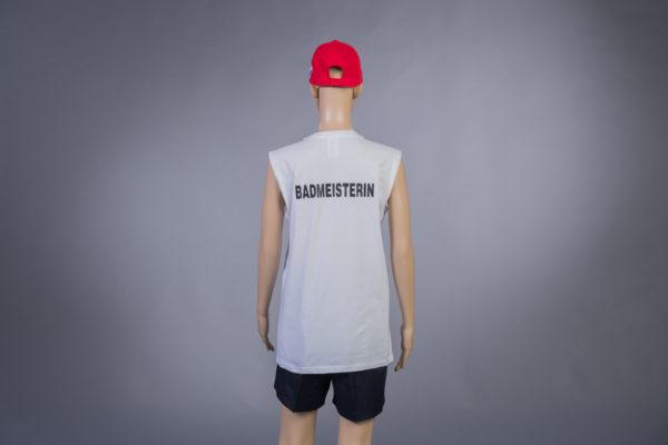 T-Shirt ärmellos für Badmeisterin Rückseite