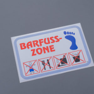 Barfuss-Zone Kleber