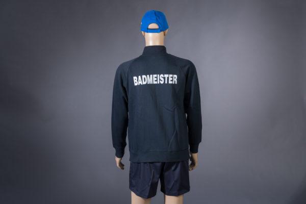 Sweatjacke für Badmeister Rückseite