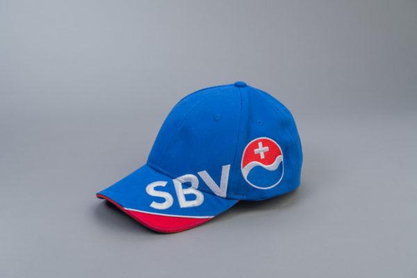 SBV Cap blau/rot mit Logo Seite