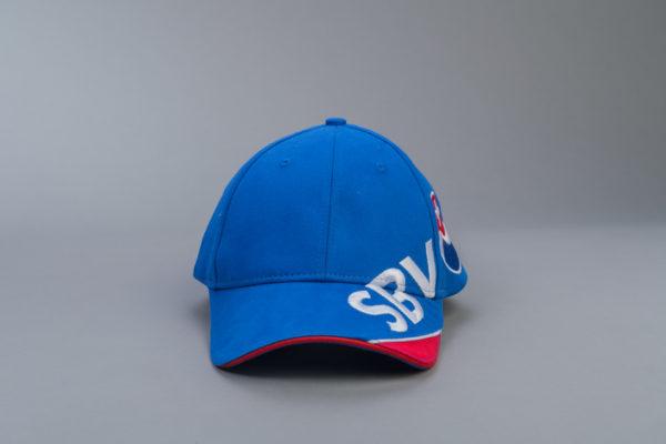 SBV Cap blau/rot mit Logo Vorderseite