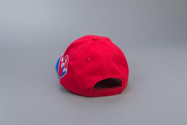 SBV Cap rot/blau mit Logo Rückseite