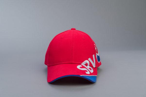 SBV Cap rot/blau mit Logo Vorderseite