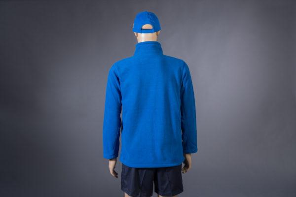 Fleecejacke für Badmeister blau Rückseite