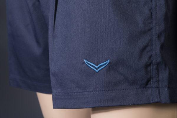 Shorts für Badmeister Trigema navy Logo