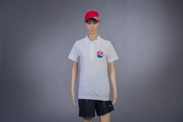 Poloshirt für Badmeisterin Vorderseite