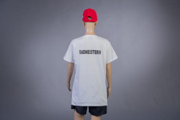 T-Shirt für Badmeisterin Rückseite