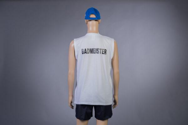 T-Shirt ärmellos für Badmeister Rückseite